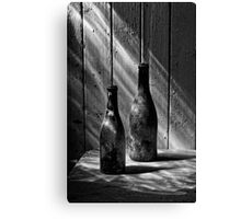 Old Wine Bottles Canvas Print