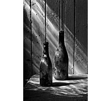 Old Wine Bottles Photographic Print
