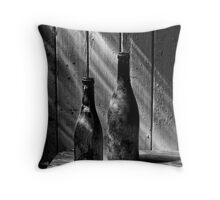 Old Wine Bottles Throw Pillow