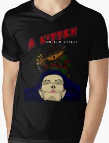 A Kitten on Elm Street Mens V-Neck T-Shirt