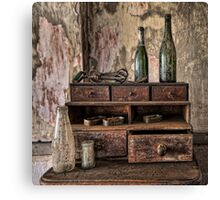 Two Green Bottles Canvas Print
