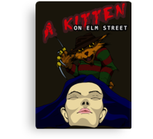 A Kitten on Elm Street Canvas Print