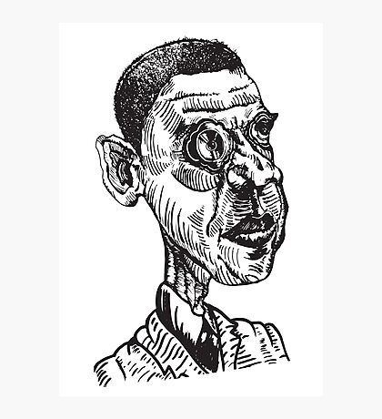 obama comic Photographic Print
