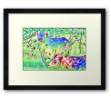 Cow Painting Framed Print