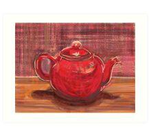 Red Teapot Art Print