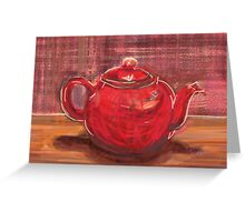 Red Teapot Greeting Card