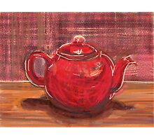 Red Teapot Photographic Print
