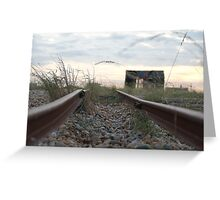 The Track T0 Nowhere Greeting Card