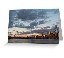Sunset Over NYC Greeting Card
