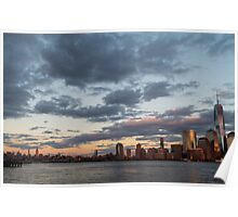 Sunset Over NYC Poster