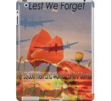 Tribute to Bomber Command WW2 iPad Case/Skin