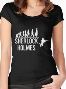 Sherlock Holmes the evolution of man Women's Fitted Scoop T-Shirt