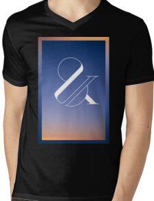 Sunset & Mens V-Neck T-Shirt