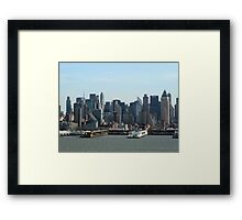 NY or Bust Framed Print