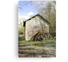 Mill and Water-wheel near Ashford-in-the-Water  Metal Print