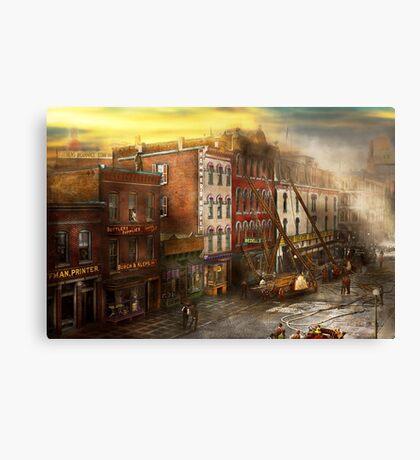 Fireman - Washington DC - Fire at Bedell's Bedding 1915 Canvas Print