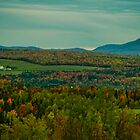 Country Farm in a Sea of Fall Colors by Chantal PhotoPix