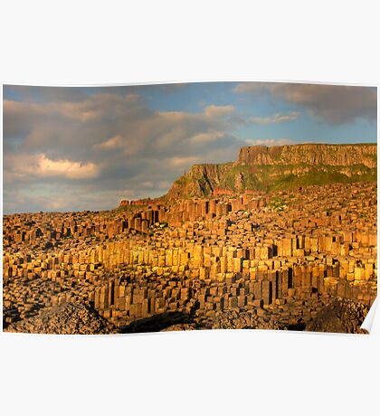 Giants Causeway, County Antrim, Northern Ireland Poster