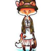 Mori Girl Fox by WeileAsh