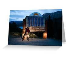 Modelling for the Yukon Greeting Card