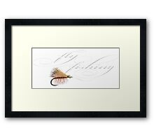 Fly fishing elk hair caddis Framed Print