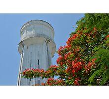 Water Tower in Nassau, The Bahamas Photographic Print