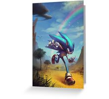 """Sonic the Hedgehog - """"Time Doesn't Wait"""" Greeting Card"""