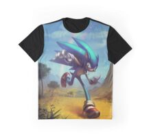 "Sonic the Hedgehog Fan Art - ""Time Doesn't Wait"" Graphic T-Shirt"