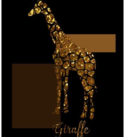 Modern Golden Giraffe, gold black brown Sticker