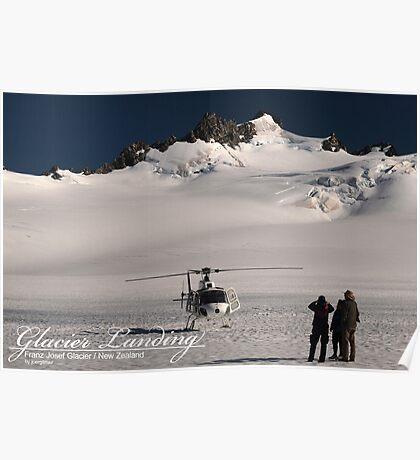 Glacier Landing Poster