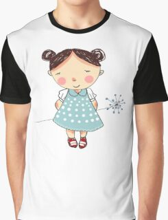 Girl and flower Graphic T-Shirt