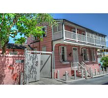 Balcony House in Nassau, The Bahamas Photographic Print