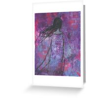 Warrioress :: Wind-Swept Divine Feminine Greeting Card
