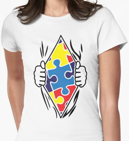 Autism Superhero Womens Fitted T-Shirt