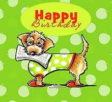 Wirehaired Dachshund Fruity Birthday by offleashart
