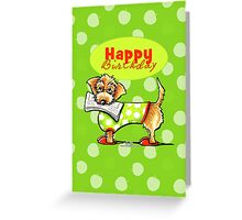 Wirehaired Dachshund Fruity Birthday Greeting Card