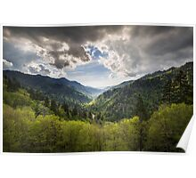 Great Smoky Mountains Landscape Photography - Spring at Mortons Overlook Poster