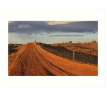 Wild Dog Fence Art Print