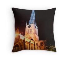 spire at night Throw Pillow