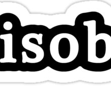 Disobey - Hashtag - Black & White Sticker