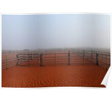 Morning mist in the outback Poster