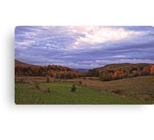 Fall Landscape under a Purple Twilight Sky Canvas Print