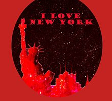 I LOVE NEW YORK RED OVAL  by bill holkham