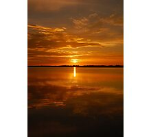 Lake Dora Sunset, Mt. Dora Florida Photographic Print
