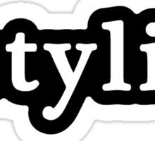 Stylist - Hashtag - Black & White Sticker