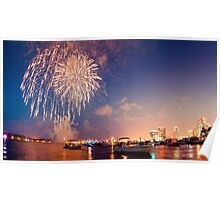 Fourth of July West Palm Beach Waterfront Poster