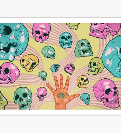 Candy Skulls Sticker