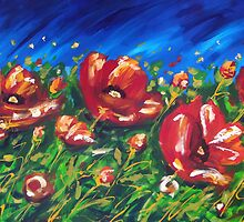 Wild Poppies by Ira Mitchell-Kirk by Ira Mitchell-Kirk
