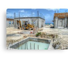 Building Construction in Paradise Island, The Bahamas Canvas Print