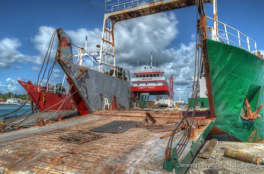 Cargo Boats at Potter's Cay - Nassau, The Bahamas by Jeremy Lavender Photography